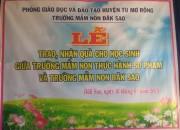 Trao, nhận quà tại xã Đăk Sao